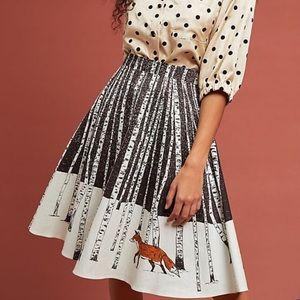NWOT Anthropologie Winter Fox A-Line Skirt Large